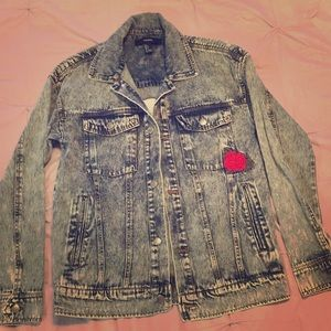Brand new acid wash denim jacket